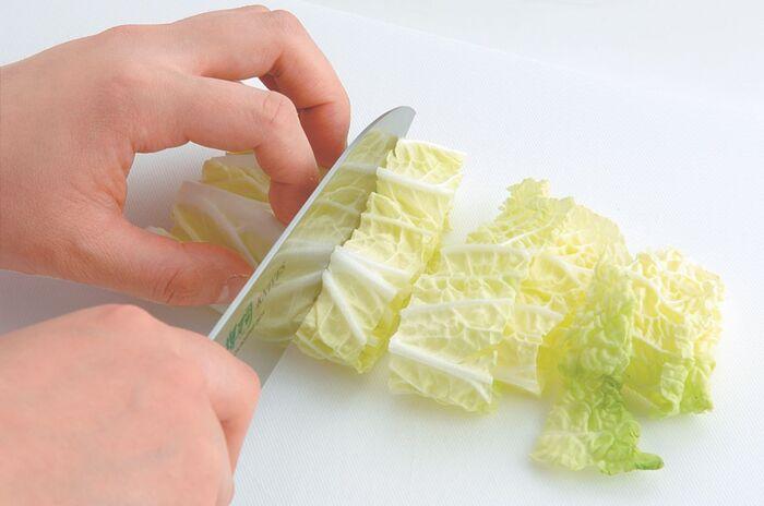 ざく切りにされた白菜