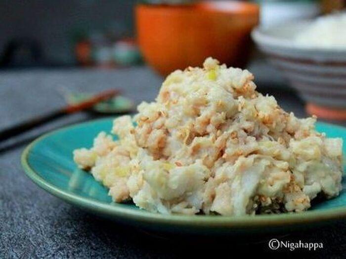 里芋と鶏の和風サラダ
