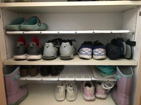 【収納】セリアで見つけたアイテムで靴箱を改良!