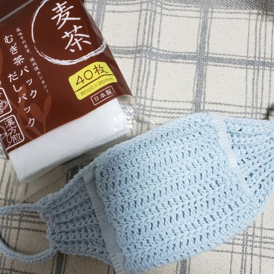 マスク かぎ針 編み