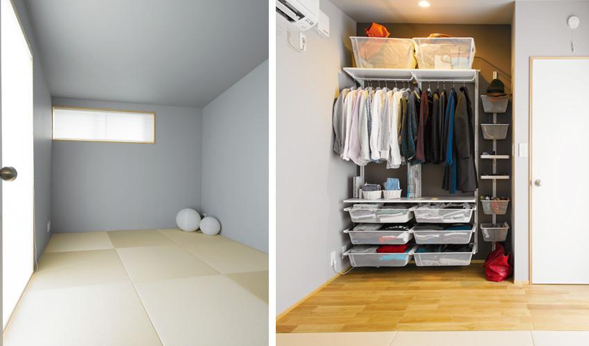 畳敷きの和室兼寝室