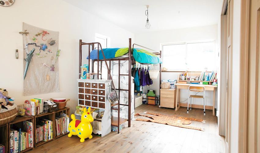 のびのびと遊べる子供部屋