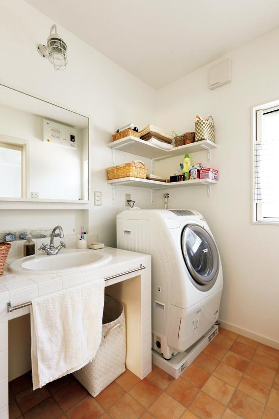 洗面所のクッションフロア
