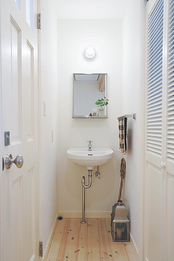 2階に作った洗面コーナー