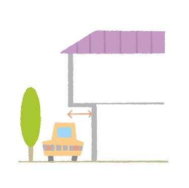 戸建てのオーバーハングの説明画像