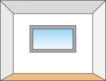 ワイドな眺望が楽しめる横長窓