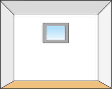 採光と換気ができる小窓