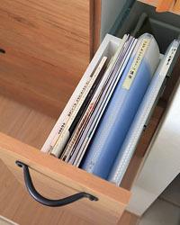 本やファイルを入れる収納