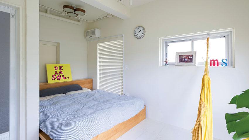 ゆったりとスペース寝室