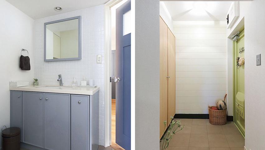 洗面台と玄関