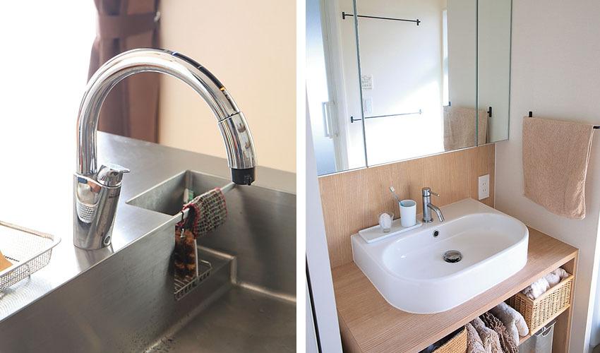 シンプルなボウルの洗面台