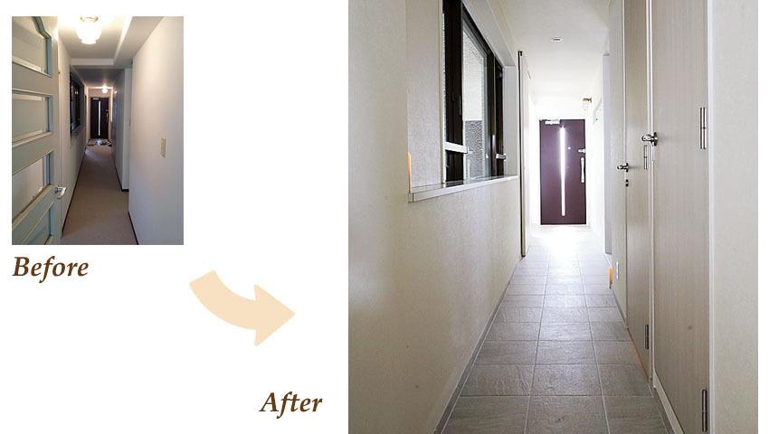 スッキリとした玄関は明るくシンプルだけどおしゃれな印象をうけます