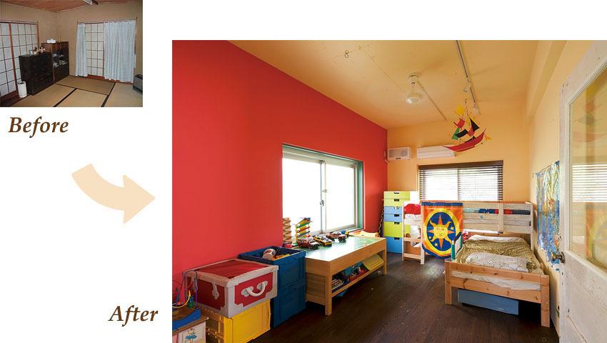 思いきり楽しくカラフルな子供部屋