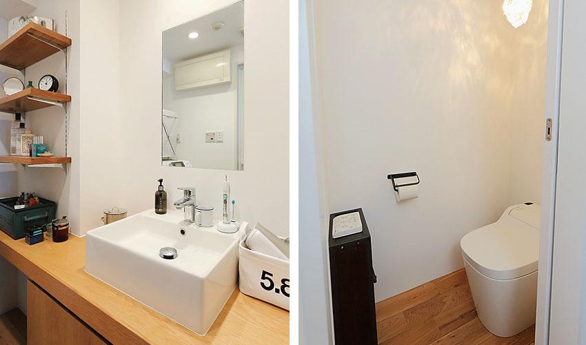 コストとデザインの両立にこだわった洗面台とトイレ