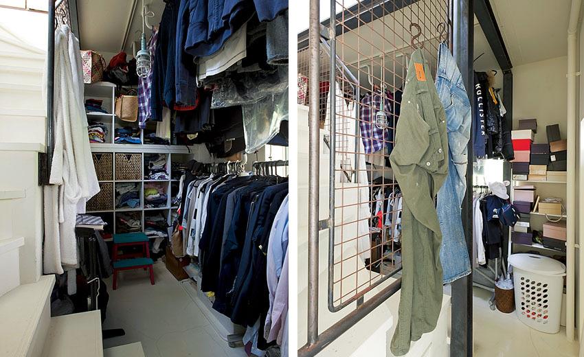 家族の衣類を集中収納