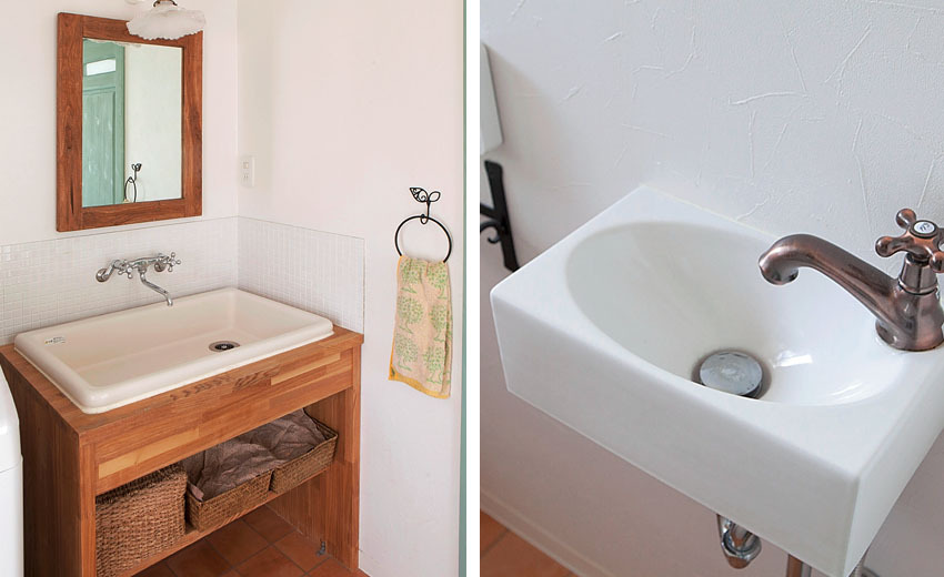 レトロな雰囲気の洗面台