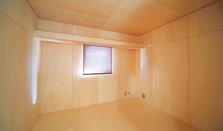 和紙製の寝室