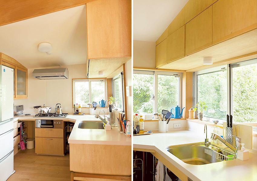 窓が素敵なキッチン