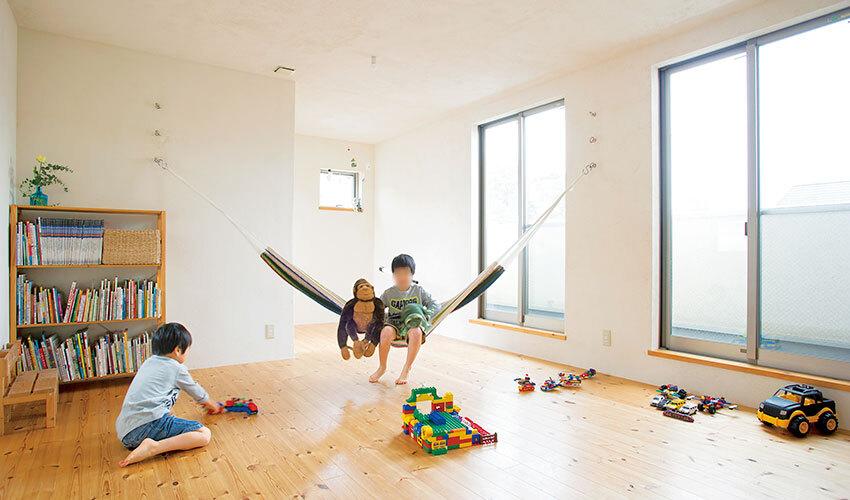 広々とした空間が広がる子ども部屋