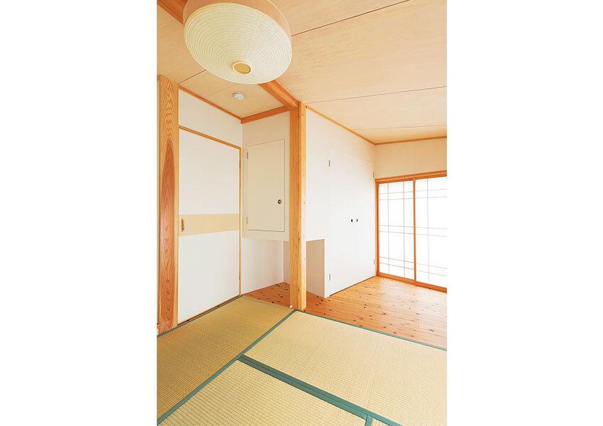 天然の素材と畳が気持ちいい和室