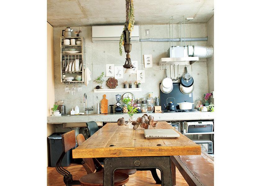 ファクトリースタイルのキッチン