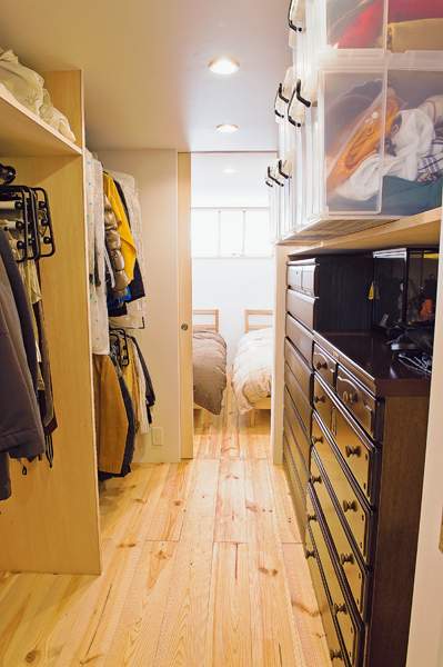 布団収納に便利な天井まで使った押入れ収納