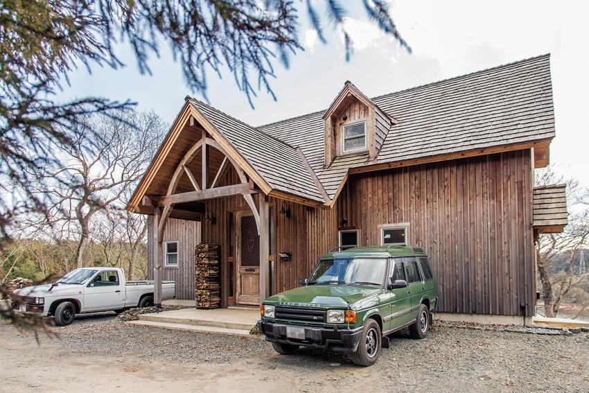 北米スタイルの森の家