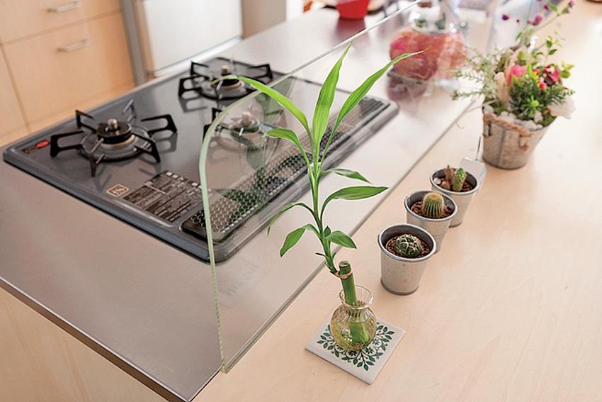 開放的なデザインのキッチン